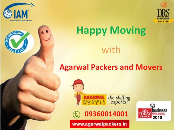 Agarwal Packers and Movers Happy Moving